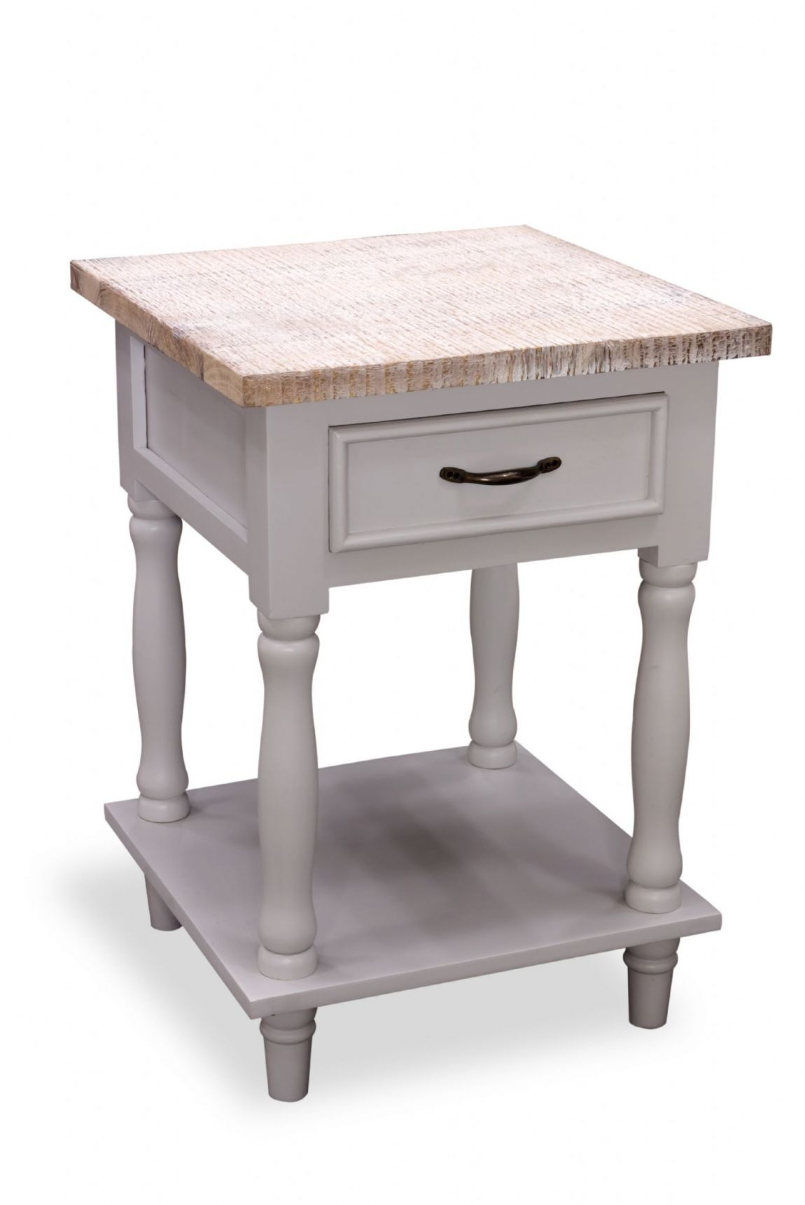 Fowey Tall Side Table - Grey
